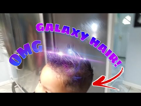 MY BROTHER DYED HIS HAIR GALAXY!   Vlog #14