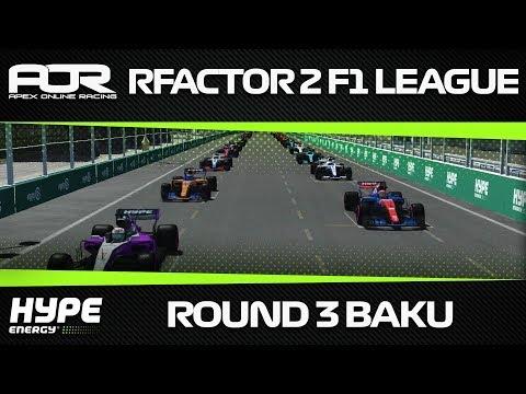 rFactor 2 - AOR Hype Energy Formula 1 2018 - Season 1 - Round 3 - Baku