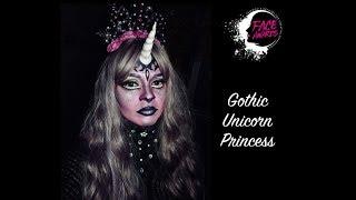 Gothic unicorn princess transformation Makeup Tutorial, #Face Awards India 2018, Halloween Makeup