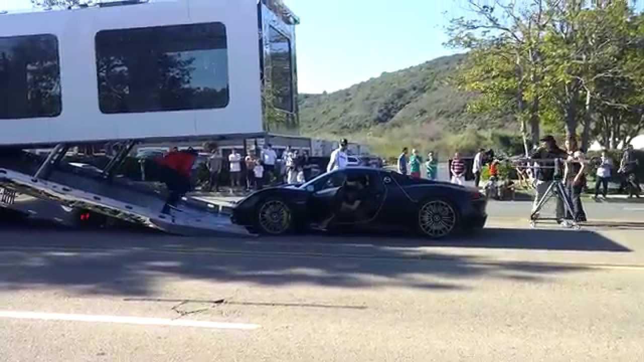 Symbolic Motors Porsche 918 Spyder Being Unloaded Boring