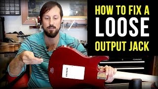 How to Fix A Loose Guitar Jack (the right way!)