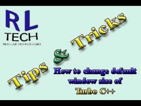 How To Change Turbo C Window Size As Required (Hindi/ Urdu)