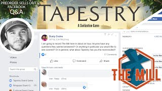 Talking Tapestry: Pre-Order Sells Out \u0026 Facebook Q\u0026A