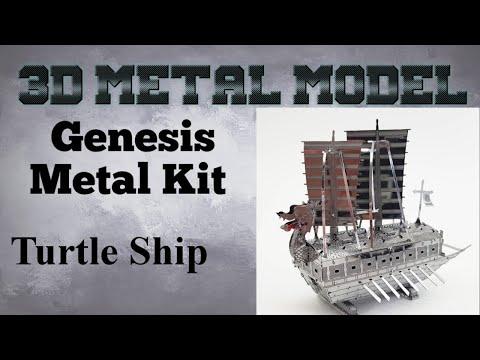 Genesis Metal Model Build - Turtle Ship
