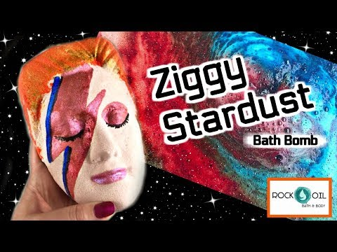 "ROCK & OIL BATH & BODY - ""Ziggy Stardust"" David Bowie Bath Bomb Demo & Review Jetted Tub *MUST SEE*"