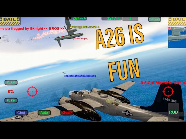 Gunship Sequel WW2 Dogfighting with A26 BOMBER! Wings of Duty