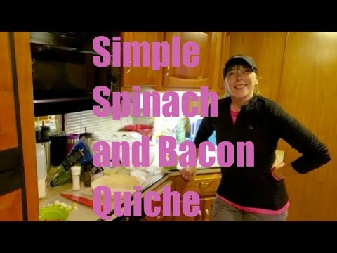 Simple Spinach and Bacon Quiche; Camping Cooking