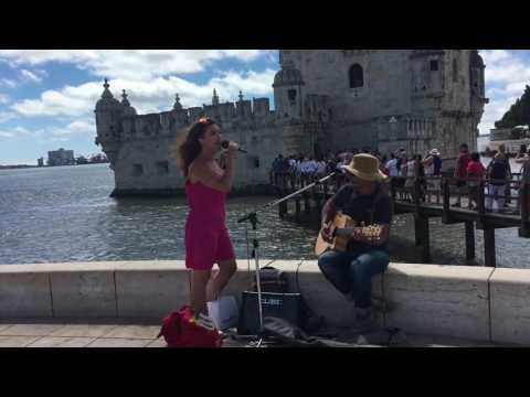 Besame Mucho from Belem with the street musician in Belem :)
