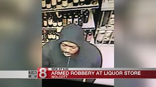 Armed robbery at Wolcott liquor store