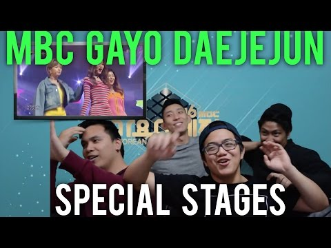MBC Gayo Daejejun 2016 Special stages (Reaction)