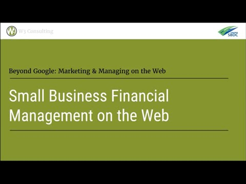 Small Business Financial Management Tools on the Web