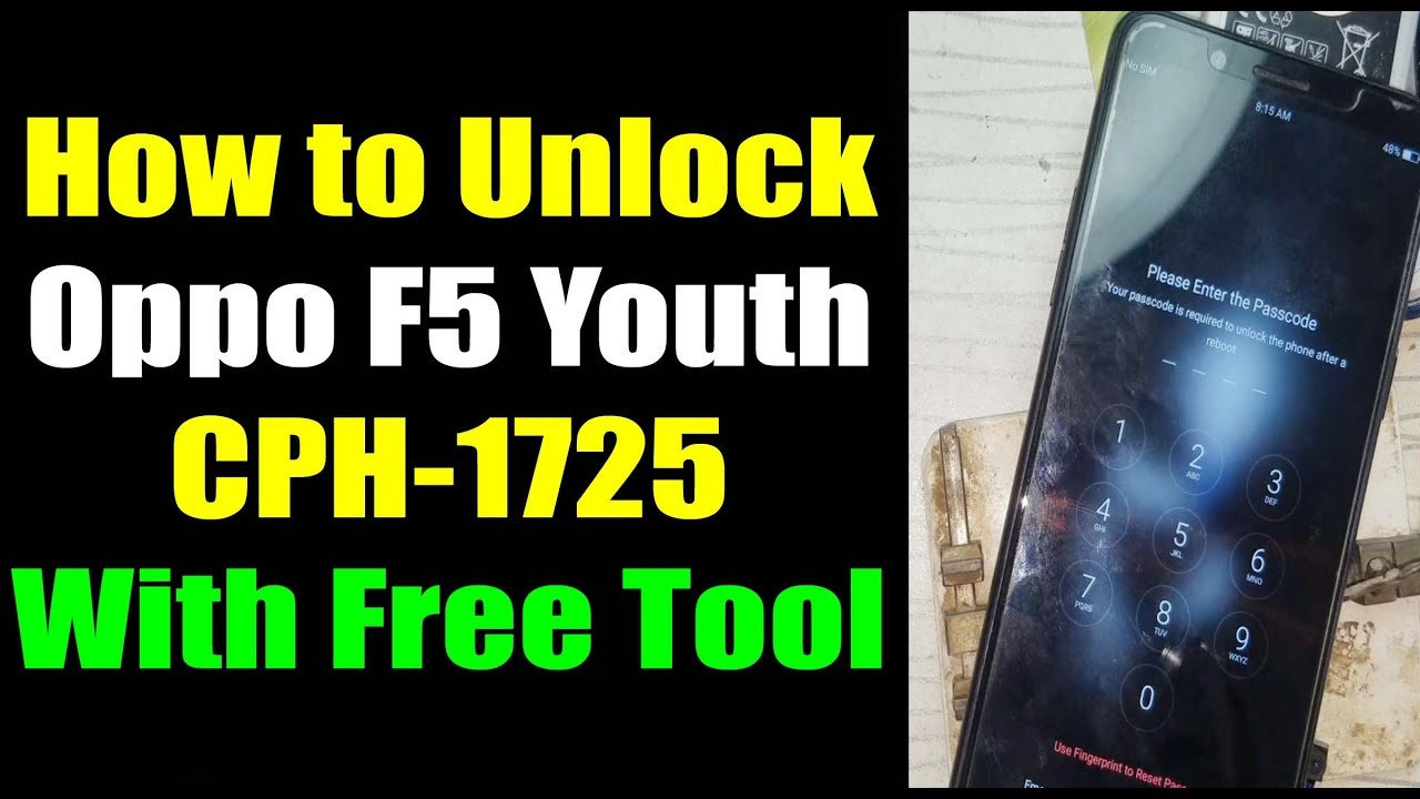 Oppo F5 Youth CPH1725 Password Unlock Hard Reset with MRT v2 62 | Urdu Hindi