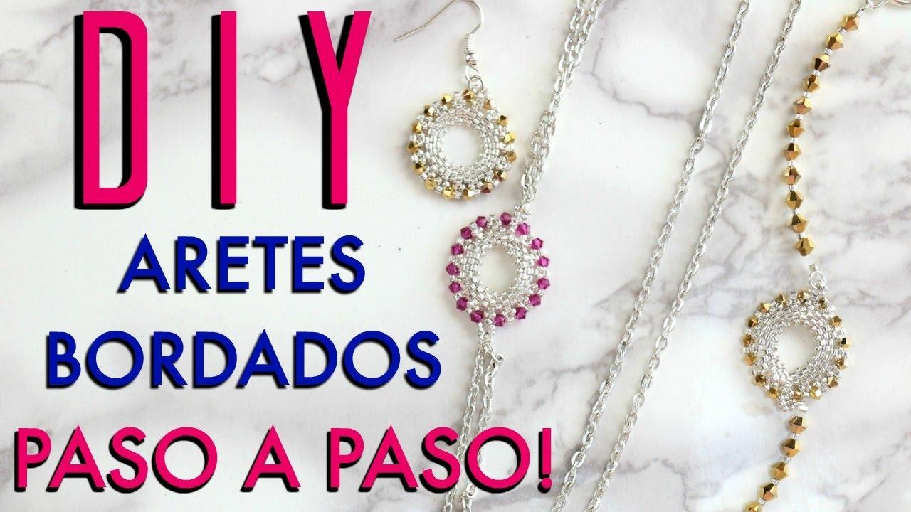 DIY ARETES BORDADOS! DISEÑO DE JOYERÍA! Paola Herrera - YouTube