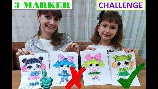 3 MARKER CHALLENGE, LOL SÜRPRİZ BEBEKLER İLE, WİTH LOL SUPRISE