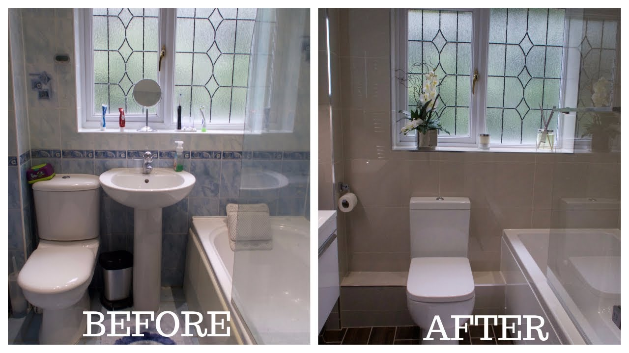 Small Bathroom Before And After.Small Bathroom Total Makeover Renovation
