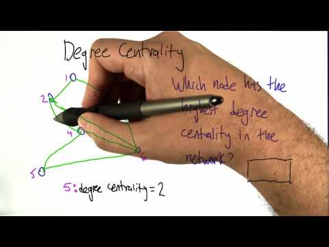 Degree Centrality Solution - Intro to Algorithms