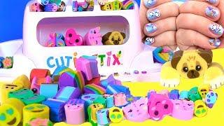 Делаем Своими Руками Браслеты, Животные DIY Дизайн Ногтей Cutie Stix Видео для Детей #ИгрыдляДетей