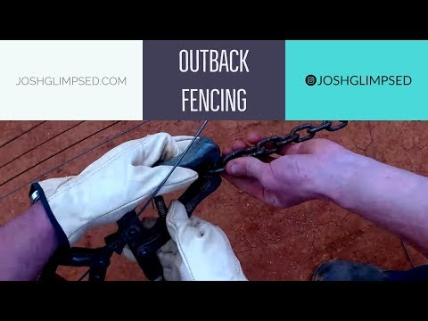 I build 100km's of fencing on HUGE Australian Ranch // Outback