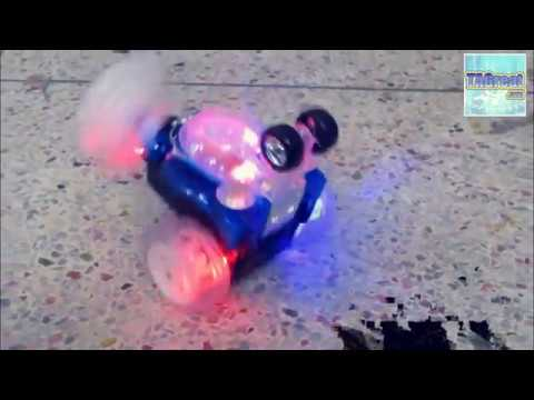 turbo twister rechargeable rc tumbling stunt car with led lights