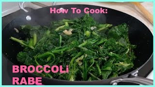 HOW I COOKED MY BROCCOLI RABE : MaryAnn.A