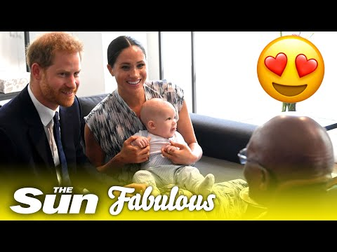 Adorable baby Archie on Harry and Meghan's South Africa tour!