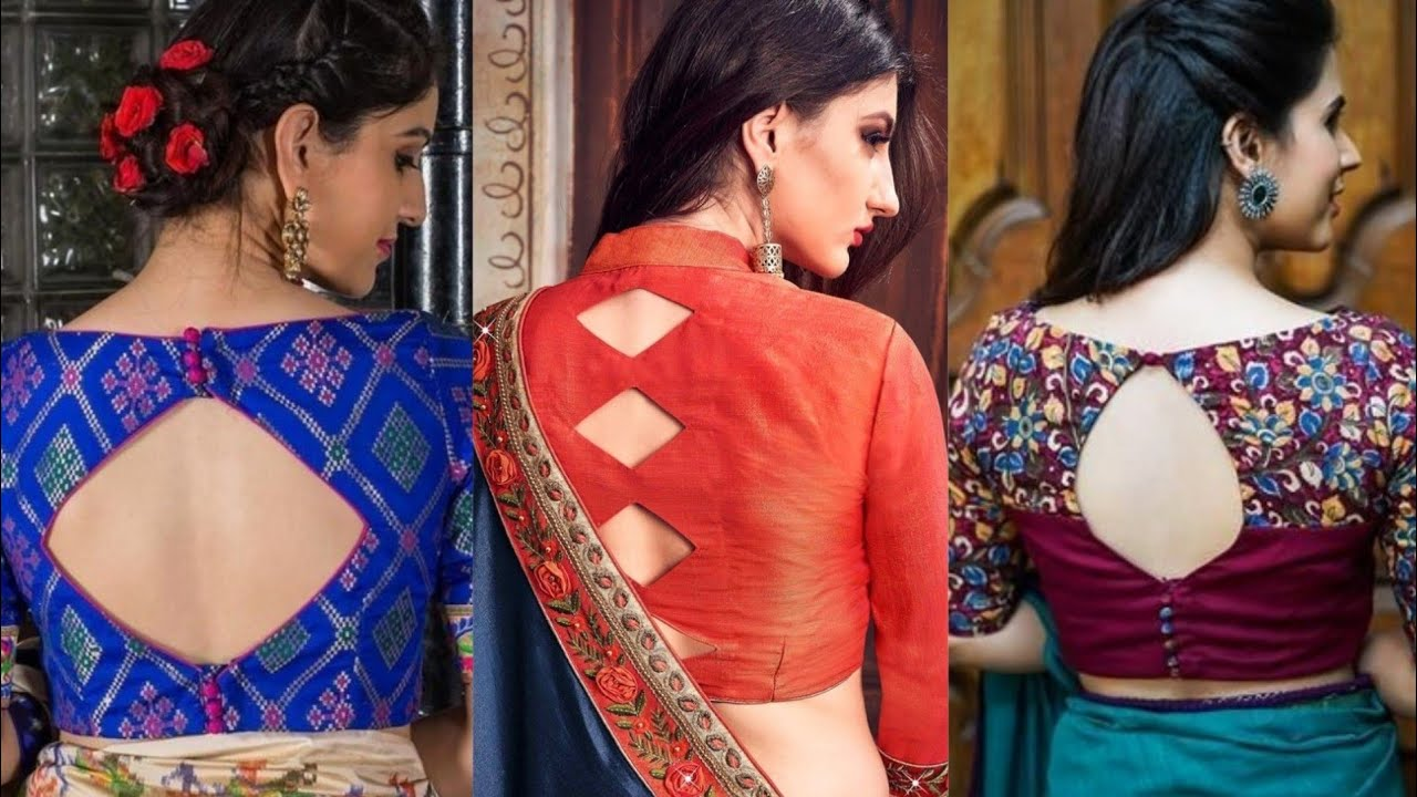 New Boat Neck Saree Blouse Design Back Neck Blouse Images Boatneck Blouse Collection Youtube