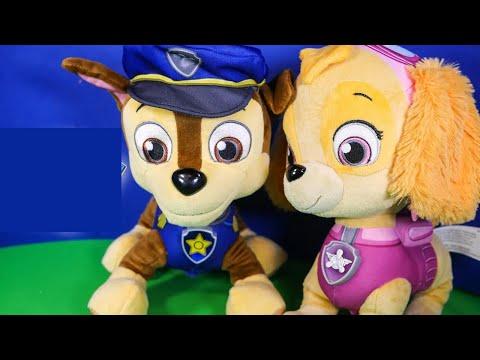 paw-patrol-skye-&-chase-talking-figures-toys-unboxing