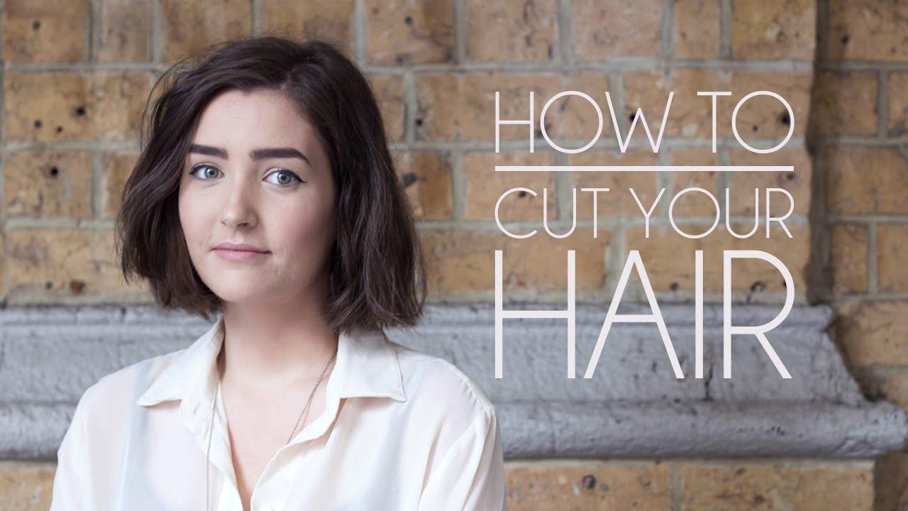 how to cut your own hair - short hair/bob