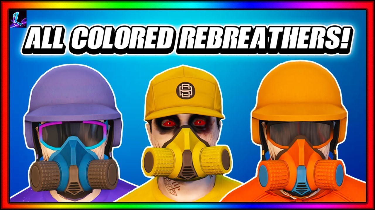 How To Get All Colored Rebreathers In GTA 5 Online After Patch 1.53!