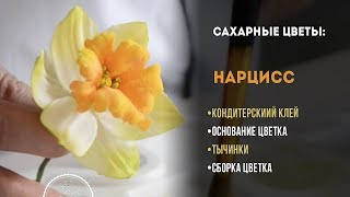 """Сахарные цветы для торта своими руками: делаем цветок """"нарцисс"""""""