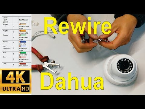 How to re-wire a broken Dahua IP camera cable - CAT5e (RJ45)