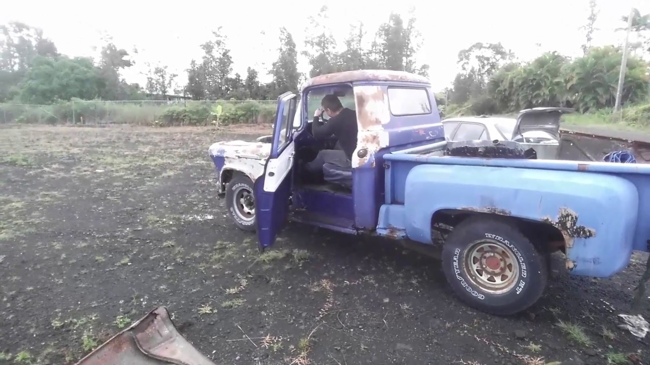 driving the rusty 200 abondoned 56 chevy cheap truck stepside junkyard rescue barn find youtube. Black Bedroom Furniture Sets. Home Design Ideas