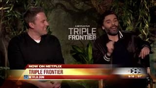 Alanna Sarabia and the cast of Triple Frontier