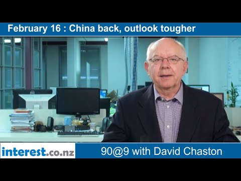 90 seconds @ 9am : China back, outlook tougher