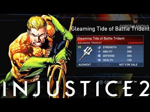 """LEGENDARY GEAR RANT! I Got The Aquaman LEGENDARY GEAR! - Injustice 2 """"Aquaman"""" Legendary Gear"""