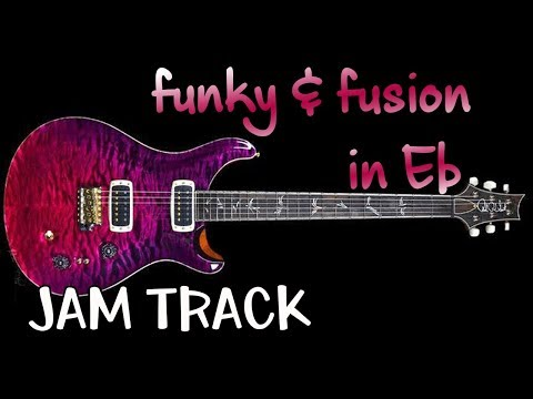 Funk Fusion Rock Guitar Backing Track Jam in Eb