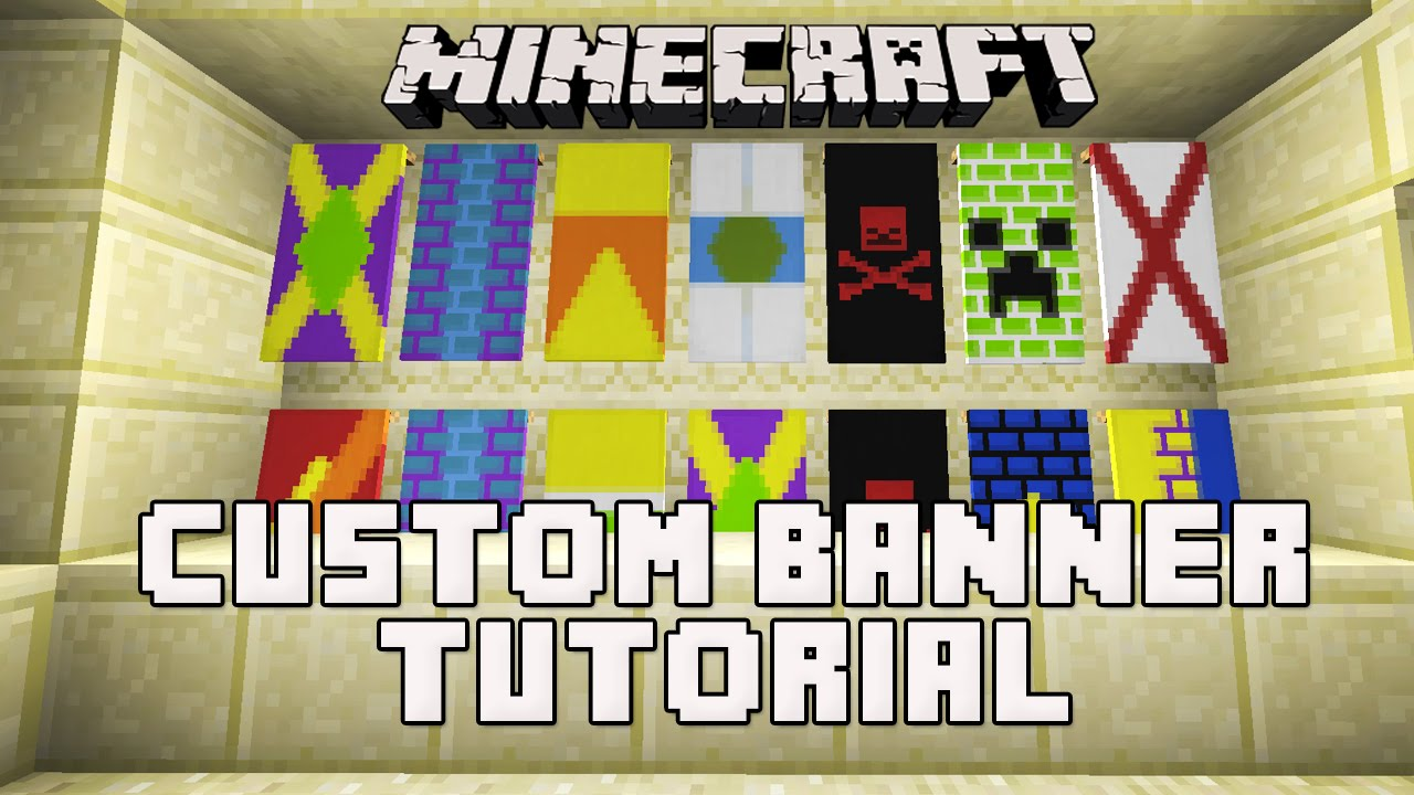 Minecraft Snapshot 14w30b: How To Make Banners (Custom Banner Flag Tutorial)
