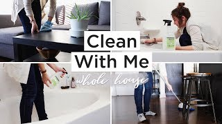 CLEAN MY MINIMALIST HOUSE WITH ME | minimalist cleaning & tidying routine