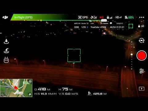MAVIC PRO 27+ MINUTE BATTERY FLIGHT TEST AT NIGHT