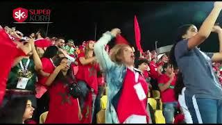 فرحة جماهير المغرب بالفوز على الكوت ديفوار بهدف دون رد