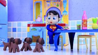 Superhero Play Doh Stop motion cartoons compilation
