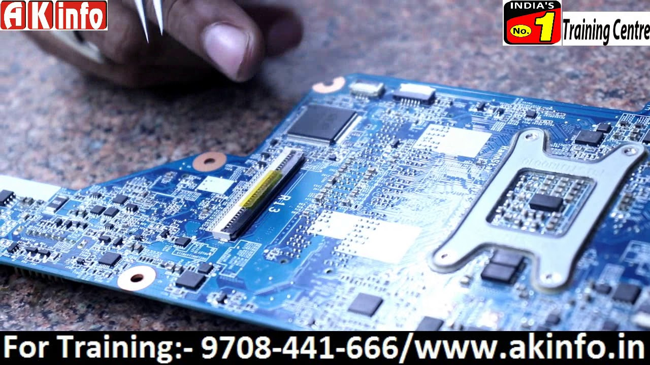 Identification Of Ic And Components Of Laptop Motherboard Youtube