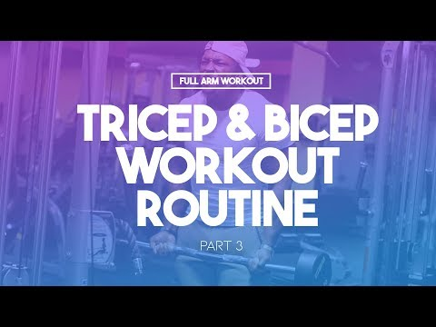 Full Arm Workout (Part ) | Triceps & Biceps Workout Routine