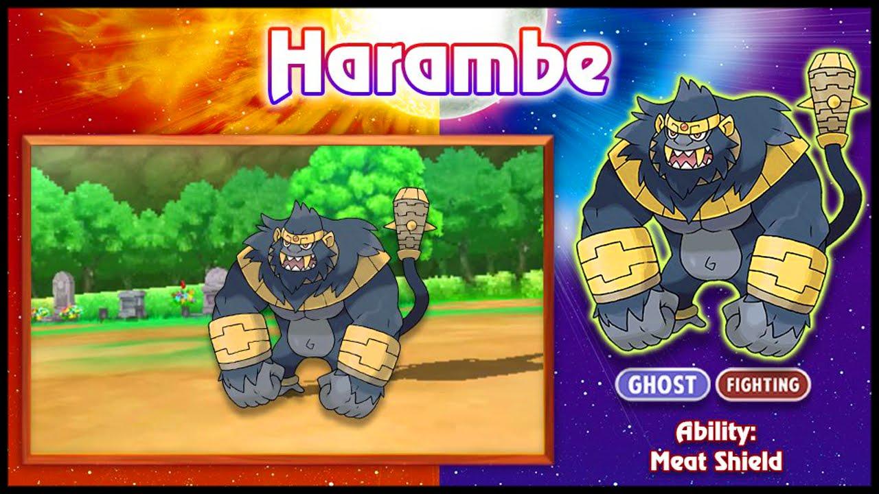new pokemon confirmed for pokemon sun and moon! beast gorilla