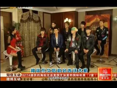 Full [Eng Sub CC] Liaoning Spring Festival Gala CountDown Interview with SJ-M 130208