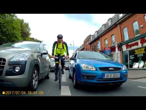 The 'cycle-lane' in Fairview, Dublin.