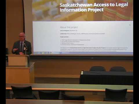 Saskatchewan Access to Legal Information (SALI) Conference panel session Oct 20