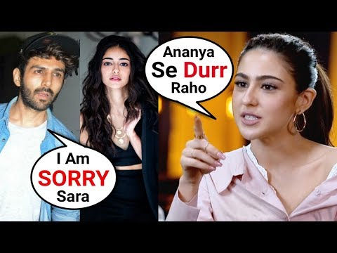 Sara Ali Khan ANGRY On Kartik Aryaan For Dating Ananya Pandey Mp3