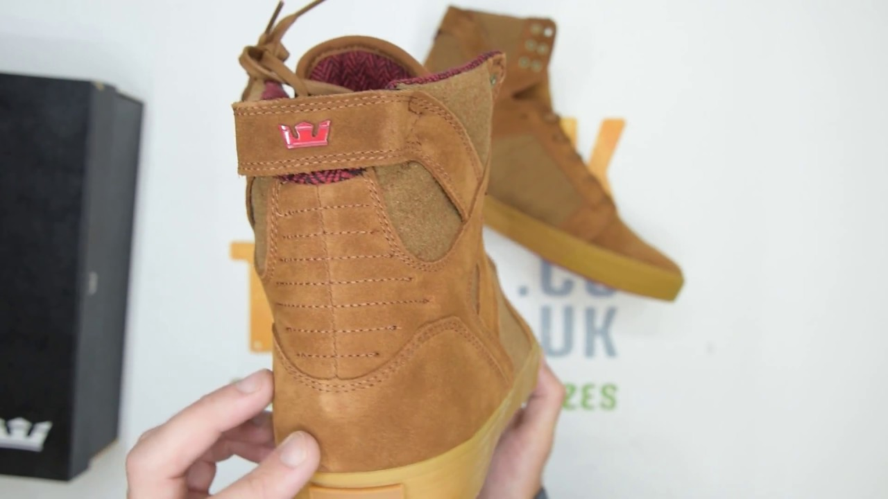 Supra Skytop Leather Wool - Brown - Unboxing  537d620bb