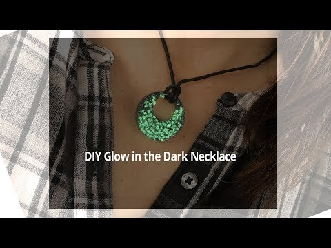 DIY Glow in the Dark Black Glitter Necklace By UV Paqlite